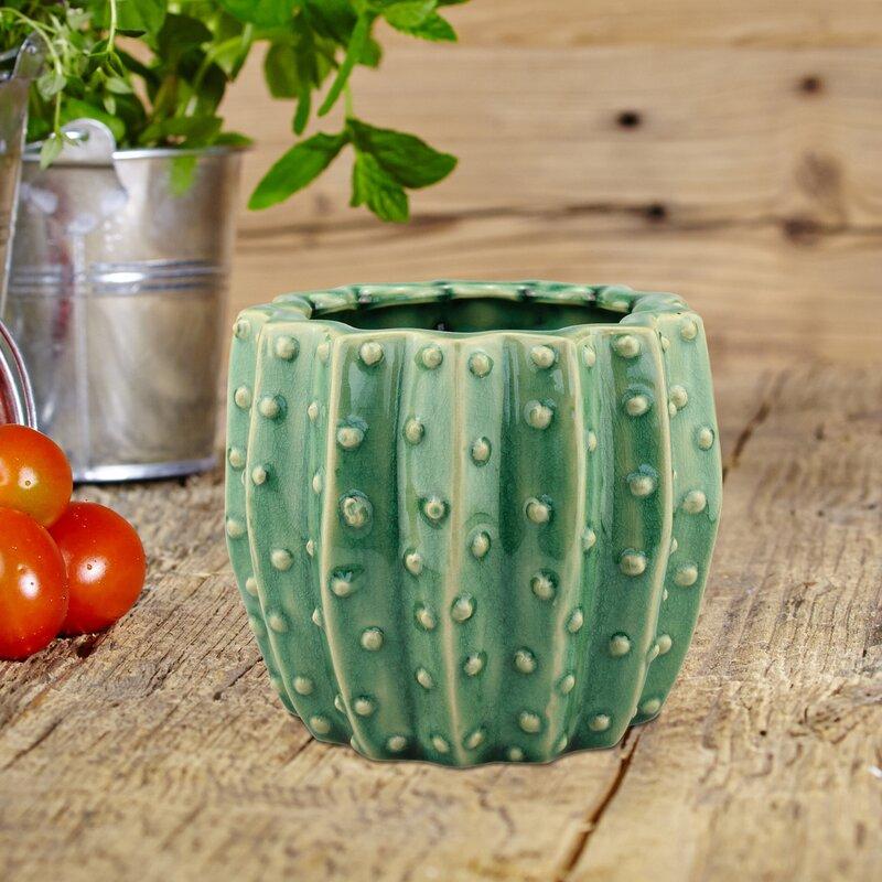 Bellaire Ceramic Cactus Pot Planter