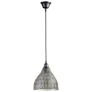 Boman 1-Light Bell Pendant by Bungalow Rose