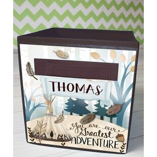 Online Reviews Adventure Personalized Fabric Bin By Toad and Lily