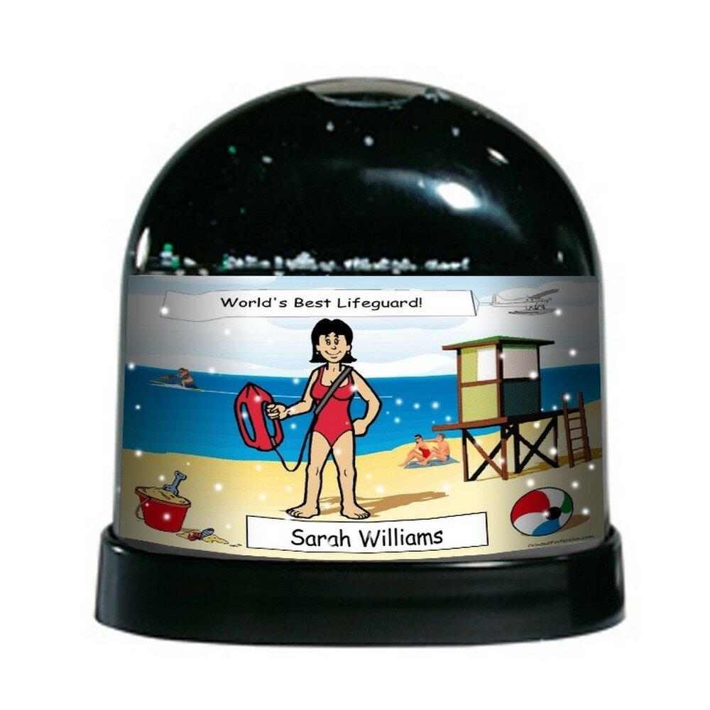 The Holiday Aisle Ntt Cartoon Caricature Female Lifeguard Snow Globe Wayfair