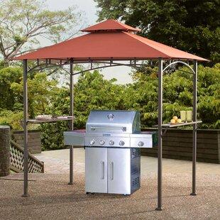 Sunjoy Aragon 8 Ft. W x 5 Ft. D Steel Grill Gazebo