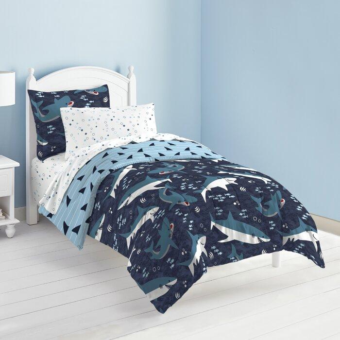 buy popular acc68 1e7d4 Harbuck Shark Toddler Bedding Set