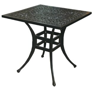 Vinson Aluminum Bistro Table by Alcott Hill Discount