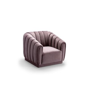 Darley Vertical Shelter Barrel Chair by Everly Quinn