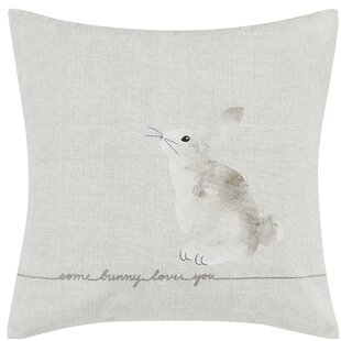 Claremont Some Bunny Loves You Cotton Throw Pillow