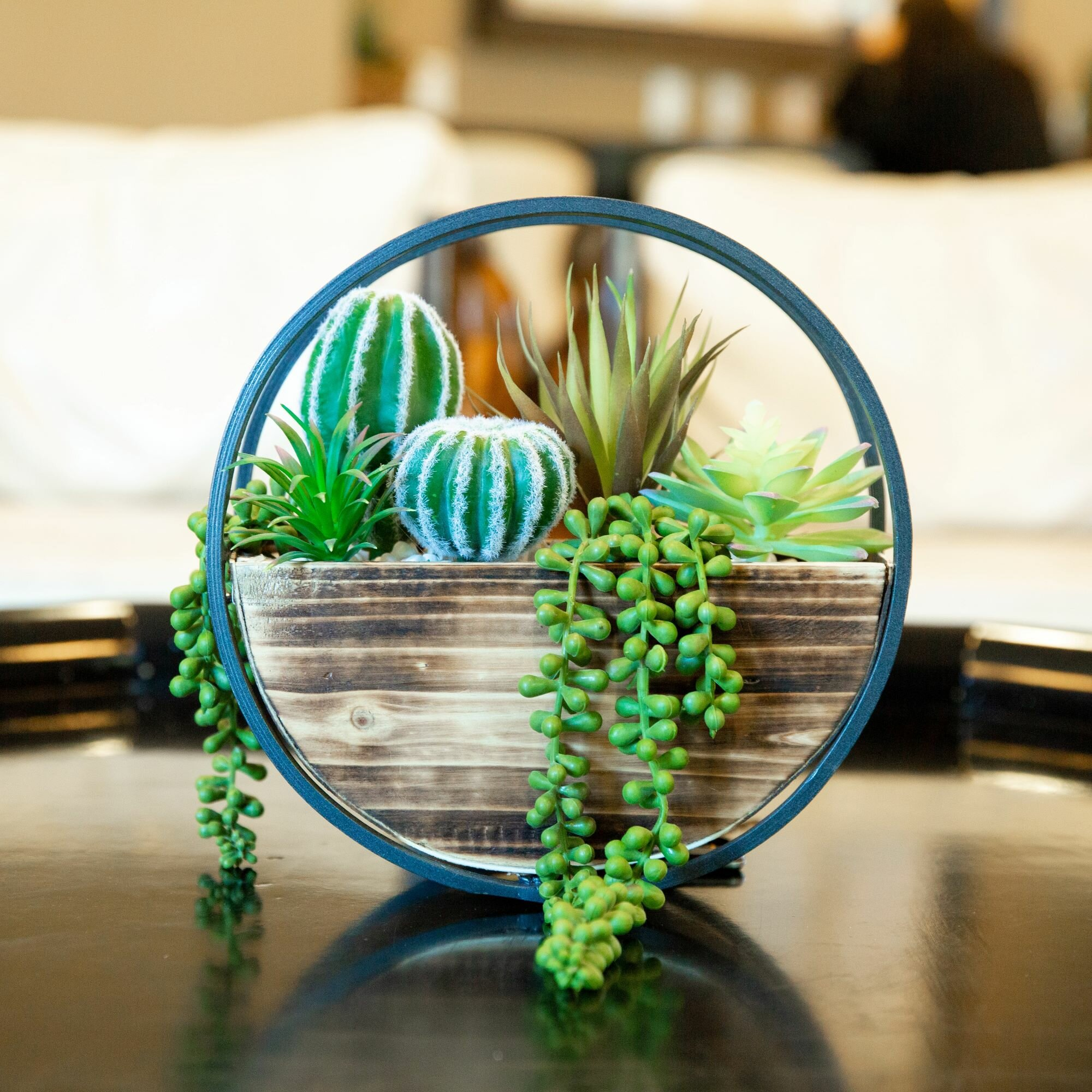 George Oliver 5 Artificial Succulent Plant In Basket Set Reviews Wayfair