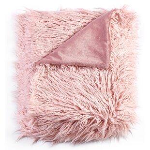 Aurellia Mongolian Soft Shaggy Faux Fur Throw