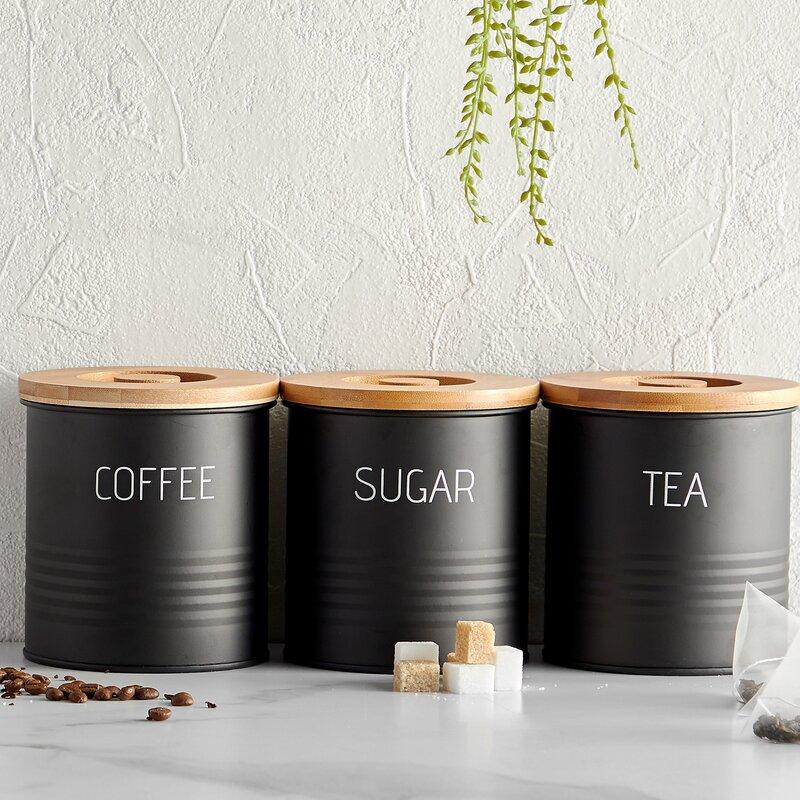 53c8eca130af VonShef 3 Piece Coffee, Tea, & Sugar Set & Reviews | Wayfair