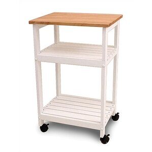 Allie Microwave Kitchen Cart with Butcher Block Top by August Grove Buy