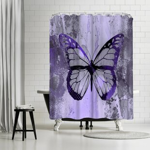 Lebens Art Fancy Butterfly Single Shower Curtain