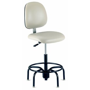 Height Adjustable Laboratory Stool With Tubular Steel Base by Intensa Great price
