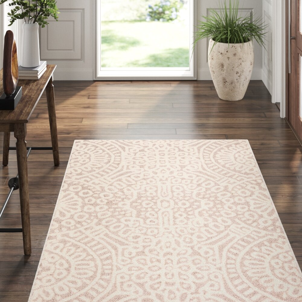 Dash And Albert Rugs Temple Geometric Hand Hooked Wool Taupe Ivory Area Rug Perigold