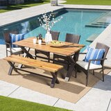 Polizzi 6 Piece Dining Set with Cushions