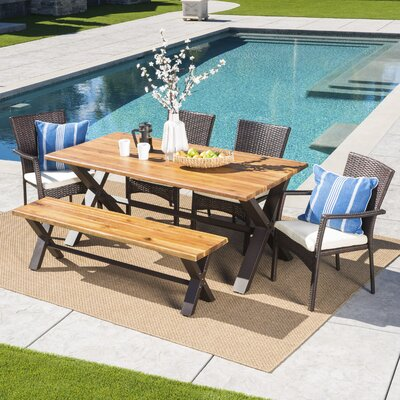 Polizzi 6 Piece Dining Set With Cushions by 17 Stories Today Only Sale