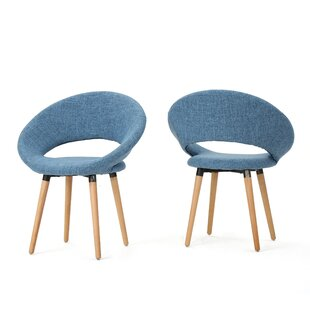 Glastonbury Fabric Modern Upholstered Dining Chair (Set of 2)