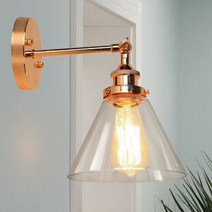 Wachtel 1-Light Armed Sconce by Breakwater Bay