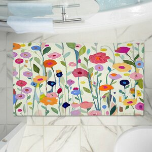 Flowers Memory Foam Bath Rug