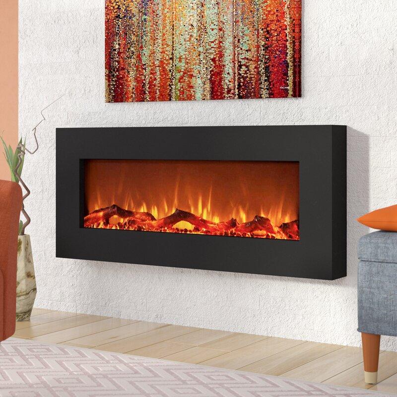 Wrought Studio Krish Wall Mounted Electric Fireplace Wayfair