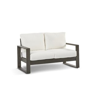 Sheppard Patio Loveseat with Cushion by Union Rustic