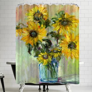 Richard Wallich Sunflowerss Shower Curtain By East Urban Home