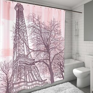 Tour Eiffel Shower Curtain By East Urban Home