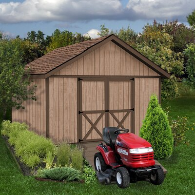 Brandon 12 ft. W x 16 ft. D Solid Wood Storage Shed Best Barns Size: 114 H x 144 W x 192 D