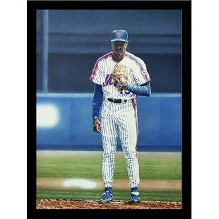 'Dwight Gooden New York Mets' Print Poster by Darryl Vlasak Framed Memorabilia by Buy Art For Less