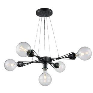 Solon 5-Light Cluster Pendant by Brayden Studio