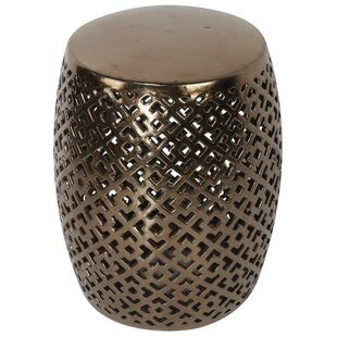 ABC Home Collection Square Pattern Garden Stool