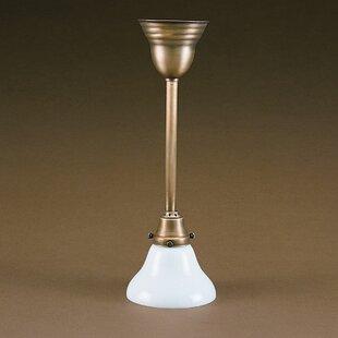 Glass 1-Light Bell Pendant by Alcott Hill