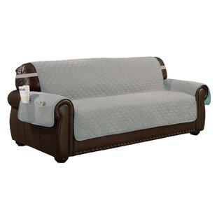 Solid Box Cushion Sofa Slipcover by Red Barrel Studio