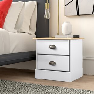 Kaiden 2 Drawer Bedside Table By Hykkon