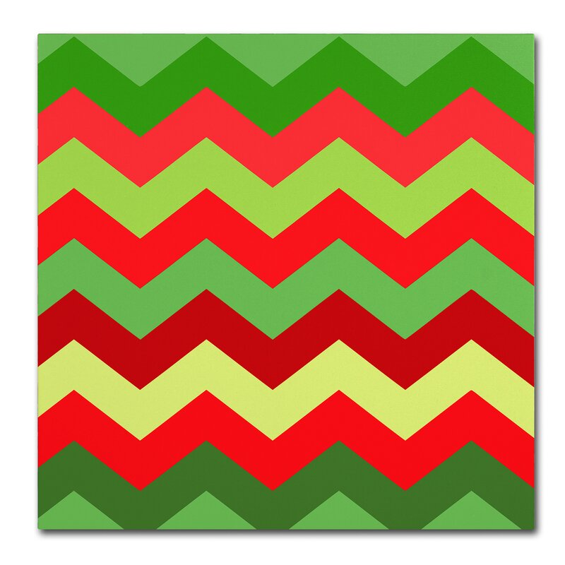 Trademark Art Xmas Chevron By Color Bakery Graphic Art On Wrapped Canvas Wayfair