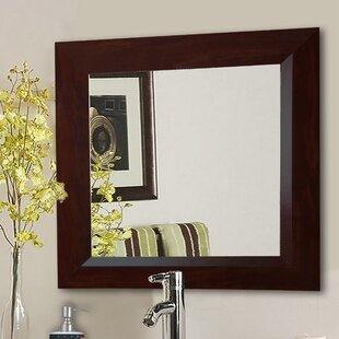 mirror and table for foyer. Square Brown Wall Mirror And Table For Foyer E