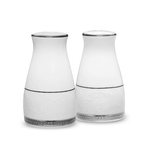 Review Regina Platinum 3.25 Salt & Pepper Set By Noritake