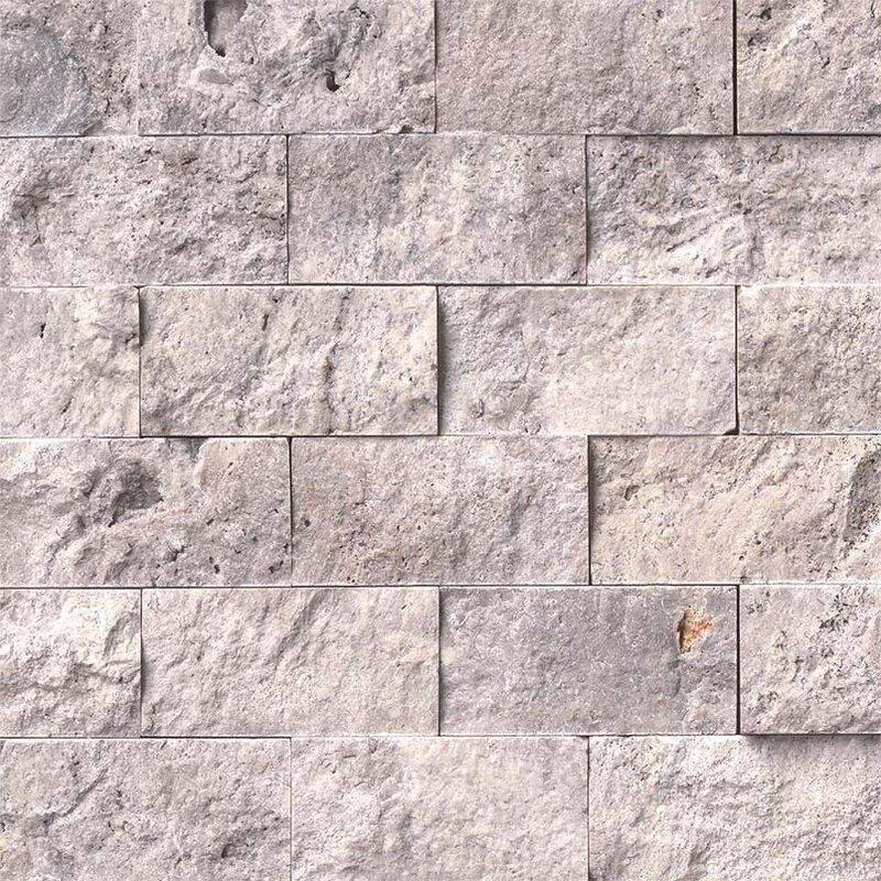2 X 4 Travertine Splitface Tile
