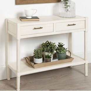 Caspian Wood Console Table by Highland Dunes