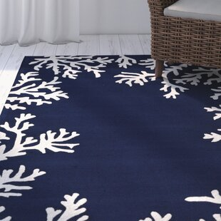 Claycomb Hand-Tufted Navy Indoor/Outdoor Area Rug By Highland Dunes
