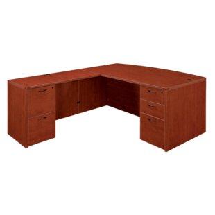 Flexsteel Contract Fairplex Bow Front L-Shape Executive Desk