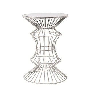 Alchiba Iron Wire End Table by Everly Quinn