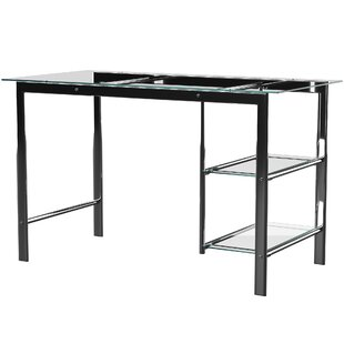 Cepheus Glass Writing Desk by Mercury Row 2019 Online