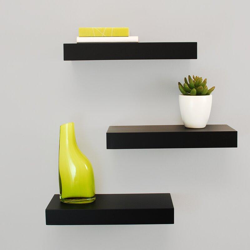 Floating Wall Shelves nexxt design maine floating wall shelf & reviews | wayfair
