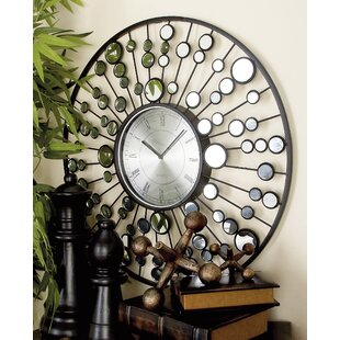 Compare 26 Metal and Mirror Wall Clock by Cole & Grey