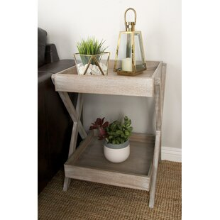 Wood Accent Tray End Table by Cole & Grey