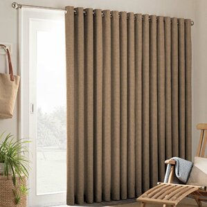 Key Largo Patio Door Solid Semi Sheer Grommet Single Curtain Panel