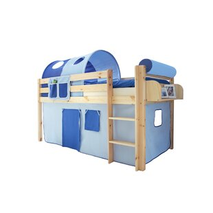Freer European Single Mid Sleeper Bed With Textile Set By Zoomie Kids