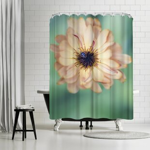 Mirja Paljakka Light Yellow Flower Single Shower Curtain