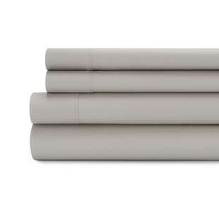Reviews Tamarack 400 Thread Count Cotton Satin Sheet Set (Set of 4) By Alcott Hill