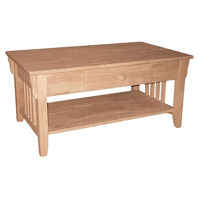 Unfinished Wood Coffee Table. International Concepts Unfinished Wood Coffee Table   Reviews