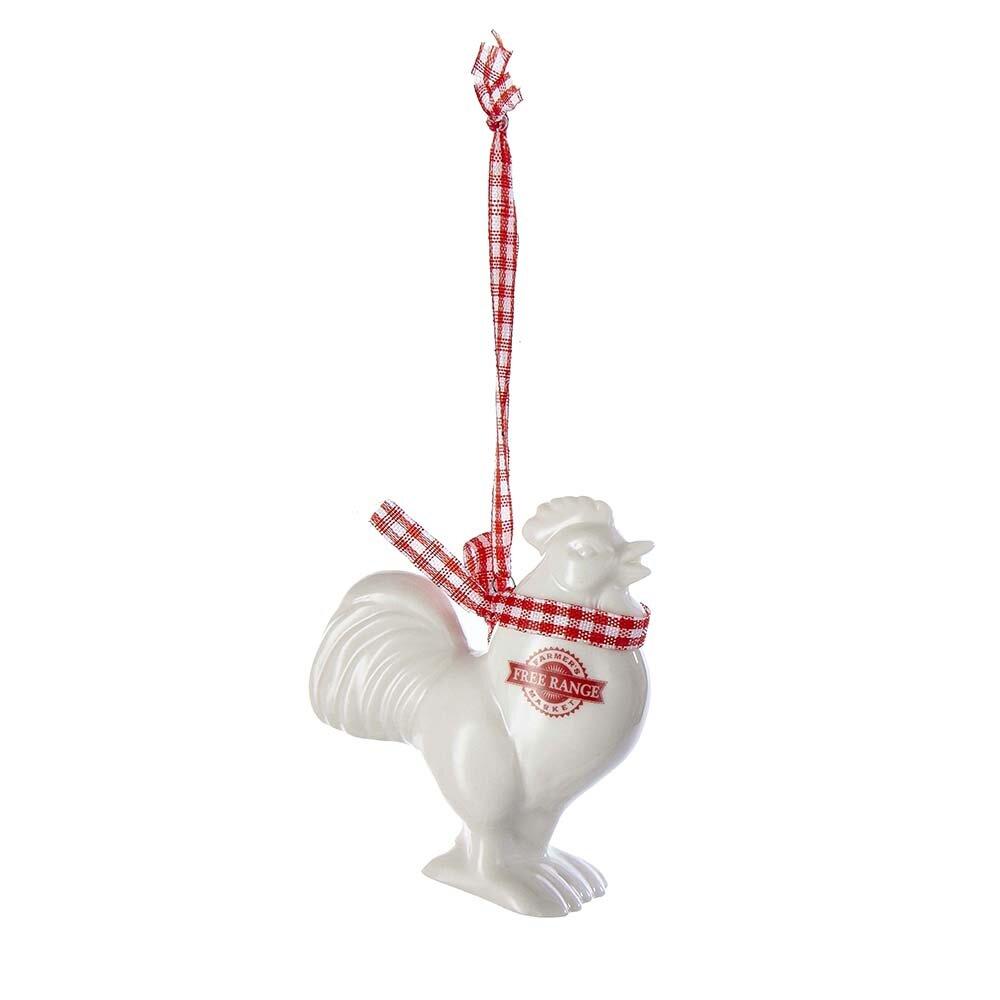 Kurt Adler Porcelain Rooster Animal Hanging Figurine Ornament Reviews Wayfair